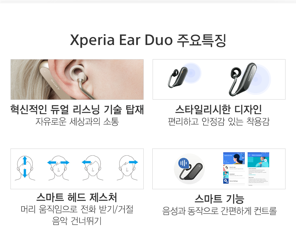 Xperia Ear Duo 주요특징 소개